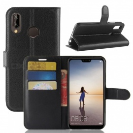 Naxtop Phone Wallet Flip Leather Holder Cover Case for Huawei P20 lite/Nova 3e - Black