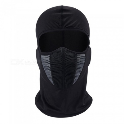 ZIQIAO Windproof Dustproof Motorcycle Full Face Mask - Gray