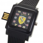 Fashion Ferrari Pattern Wrist Watch with USB 2.0 Flash/Jump Drive - Black (2GB)