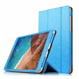 Protective PU Leather Case Cover with Auto Sleep for Xiaomi Mi Pad 4 - Blue