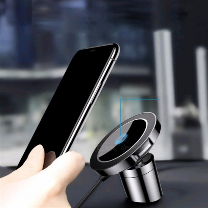official photos 74af1 ad36a Baseus Big Ear Qi Wireless Charger Magnetic Car Mount Holder Clamp Paste  Stand For IPHONE X 8 Samsung Note 8 S8 S7 Black
