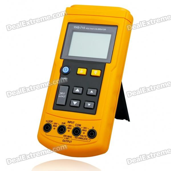 YHS-715 2.4 LCD Rechargeable Handheld Loop Calibrator Multimeter (Voltage + Current / 1*6F22) 4 20ma signal generator 24v current and voltage transmitter calibrator signal source 0 10v constant current source simulation