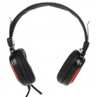 CY-820 On-Ear Stereo Headphones w/ Microphone & Volume Control - Black (3.5mm Jack)