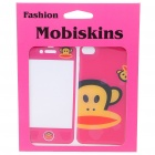 Stylish Cartoon Monkey Style Case Skin Cover Stickers for iPhone 4 - Pink