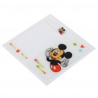 Stylish Cartoon Mickey Mouse Style Case Skin Cover Stickers for iPhone 4 - White