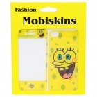 Stylish Cartoon SpongeBob Style Case Skin Cover Stickers for iPhone 4 - Yellow