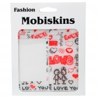 Stylish I Love You Style Case Skin Cover Stickers for Iphone 4 - White