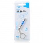 Bullet Shaped Anti-Static Anti-Shock Keychain - Silver + Blue