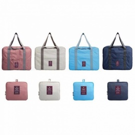 waterdichte reisvouwtas, grote capaciteit bagbagage, polyester opvouwbare rits handtas blauw