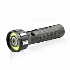 Aluminum Alloy COB LED Flashlight Dual Light Sources Emergency Light Outdoor Camping Fishing Flashlight White/Black
