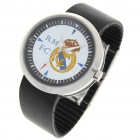 Stilvolle FC Football Team Logo Quarz-Armbanduhr - Real Madrid (runder / 1 * 377A)