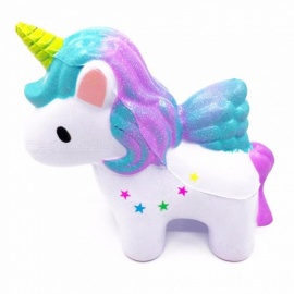 12CM Jumbo Squishy Rainbow Unicorn Super Slow Rising Kawaii Catoon Phone Strap Pendant Bread Cake Toy White