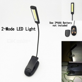 Clip-on Style COB LED Reading Light Working Light Camping Light BBQ Lamp Portable Light White/Black