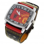 Stilvolle FC Football Team Logo Quarz-Armbanduhr - Manchester United (quadratische / 1 * 377A)