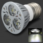 E27 3W 220-250lm Cool White Light 3-LED Cup Bulb (220V)