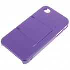 Armour Protective ABS Backside Case w/ LCD Protector + Cleaning Cloth + More for iPhone 4 - Purple
