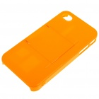 Armour Protective ABS Backside Case w/ LCD Protector + Cleaning Cloth + More for iPhone 4 - Orange