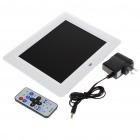 "8"" LCD Desktop Digital Photo Frame with SD/MMC/USB/Earphone/DC In Slot - White (16MB)"