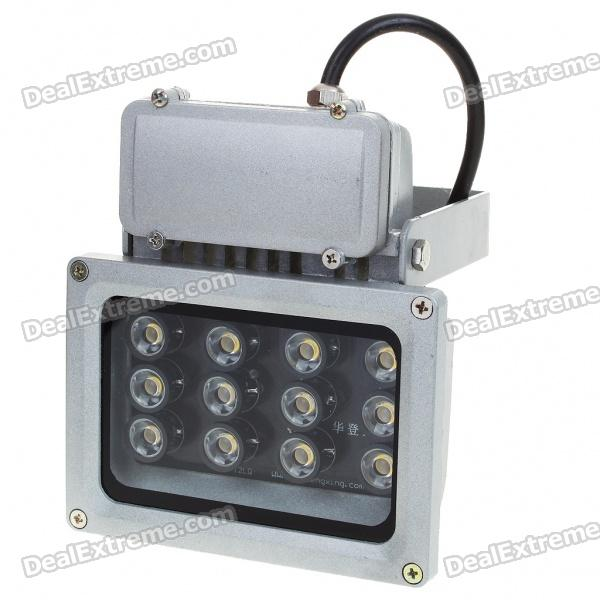 12W 12-LED 780-870LM Warm White Flood Light/Projection Lamp (220V) - DXOther Connector Bulbs<br>Ultra bright warm white 12-LED light - Quality aluminum + tempered glass shell - Rated voltage: 220V 12W - Luminous Flux: 780-870LM - Color Temperature: 3000-3500K - Long life &amp; energy saving<br>