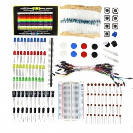 ZHAOYAO Elecrow Starter Kit for Arduino Beginners DIY Component Kit with Resistance Card Bread Board Electronic Parts