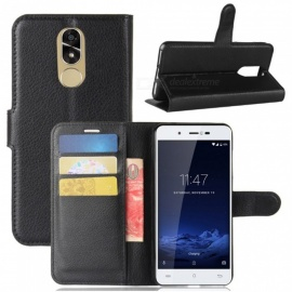 Naxtop Phone Wallet Flip Leather Holder Cover Case for Cubot Note Plus - Black
