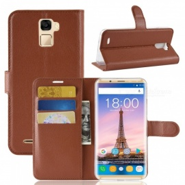 Naxtop Phone Wallet Flip Leather Holder Cover Case for Oukitel K5000 - Brown