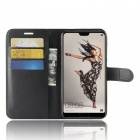 Naxtop Phone Wallet Flip Leather Holder Cover Case for Huawei P20 Pro - Black
