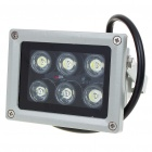 6W 6-LED 400-500LM White Flood Light/Projection Lamp (220V)