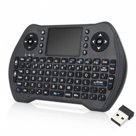 2.4ghz mini USB trådløst tastatur touchpad / fly air mouse