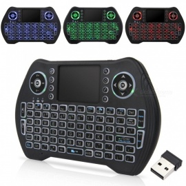 MT10 2.4G Mini Wireless Keyboard w/ Tri-color Backlit, Built-in Battery