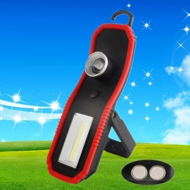 New Portable COB LED Flashlights Multipurpose Mini Outdoor Lighting Emergency Light With Magnet Hook Pocket Lamp 3W/Black