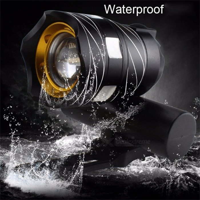 CREE XML T6 LED Bicycle Light Bike Front Lamp Outdoor Zoomable Torch Headlight USB Rechargeable Built In Battery 15000LM Black