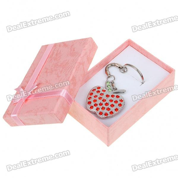 Stylish Apple Style USB 2.0 Flash/Jump Drive with Keychain - Silver + Red (16GB) cute slippers style usb flash drive with chain deep pink 16gb