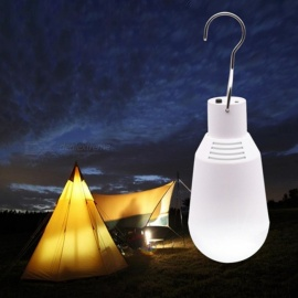 Solar Lamp Powered Portable Led Bulb Lamp LED Lighting Solar Panel Camping Hanging Night Light For Outdoor Travel White/0-5W