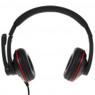 ChenYun On-Ear Stereo Headset with Microphone and Volume Control - Black (3.5mm Jack/2.2M-Cable)