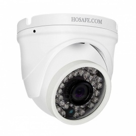 HOSAFE H2MD4A 1080P 2.0MP Outdoor Dome IP Camera with Audio, 50ft Night Vision, Motion Detection Alert - US Plug