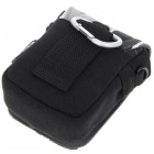 Matin Protective Cotton Canvas Carrying Pouch with Strap for Compact Digital Camera - Black