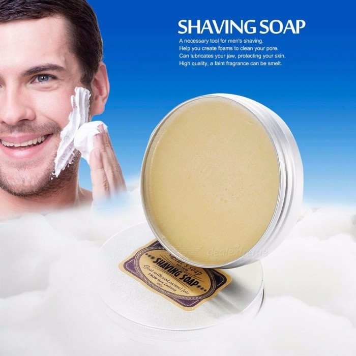 Men's Shaving Cream Round Facial Beard Shaving Cream Barbering Shave Tool Shaving Soap