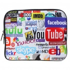 "Stylish Colorful Internet Protective Soft Carrying Bag with Zipped Close for 15"" Laptop"