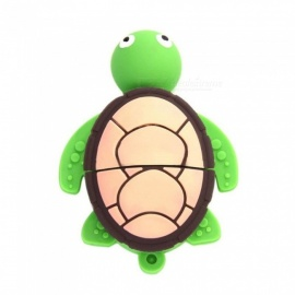 Maikou Big Head Turtle Shape Cartoon USB 2.0 U Disk / Flash Drive - Green (8GB)