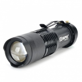SIPIK SK68 120lm bolle lens-zoomlens, 1-mode mini LED-zaklamp, Q3 LED-zaklantaarnlantaarn (1PC)