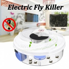 P-TOP Electric Fly Trap Device with Trapping Food, Electric Flycatcher Artifact - Blue