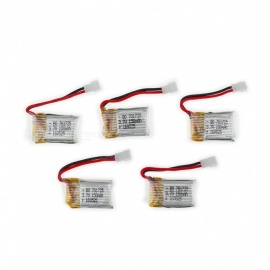 5Pcs 3.7V 150mAh Li-po Battery for Hubsan H107 H107C SYMA X5C JJRC H8 mini
