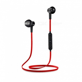 OJADE bass bluetooth V4.1 øreplugger trådløse stereo bluetooth ørepropper magnetisk in-ear headset med mikrofon for telefon - rød