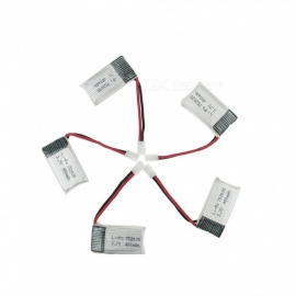 5Pcs 3.7V 400mAh Li-po Battery for Hubsan H107 H107C SYMA X5C jjrc H8 mini