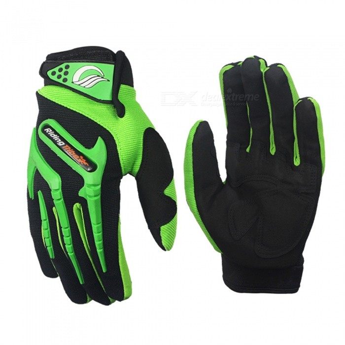 RidingTribe Fashion Motorcycle Touch Screen Protective Gloves - Green (Pair / L-Size)