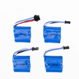 4Pcs 3.7V 18350 600mAh Li-po Battery for Hubsan H107 H107C SYMA X5C JJRC H8 mini