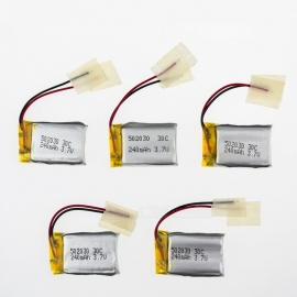 5Pcs 3.7V 240mAh Li-po Battery  for Hubsan H107 H107C SYMA X5C JJRC H8 mini