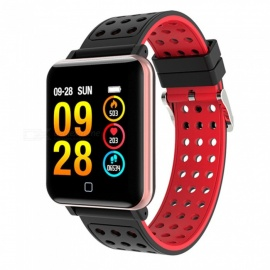 VRrobot M19 Color Screen Smart Bracelet Heart Rate Sports Waterproof Bluetooth - Red