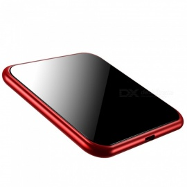 Benks W05 Thin Cube Wireless Charger with Tempered Glass Panel and Aluminum Shell - Red